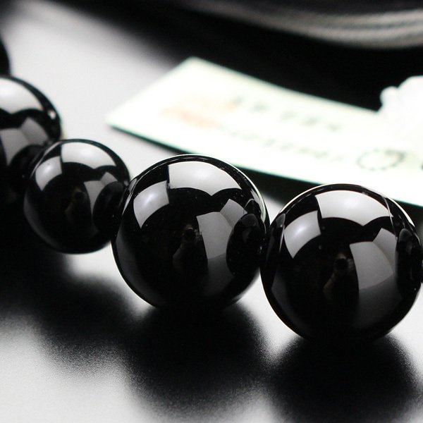 数珠 男性用 黒オニキス 22玉 正絹2色房|nenjyu|04