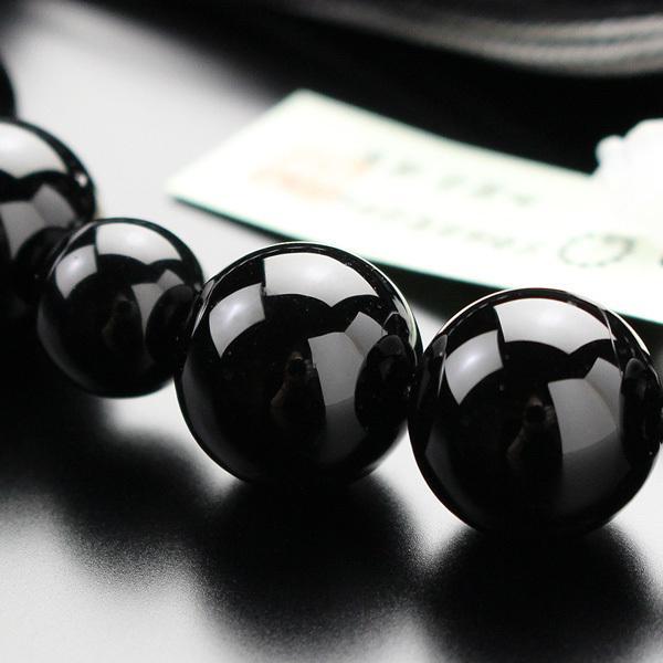 数珠 男性用 黒オニキス 22玉 正絹2色房|nenjyu|05