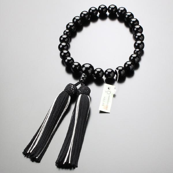 数珠 男性用 黒オニキス 22玉 正絹2色房|nenjyu|06