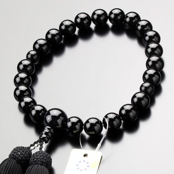 数珠 男性用 22玉 黒オニキス 正絹房 山田念珠堂|nenjyu
