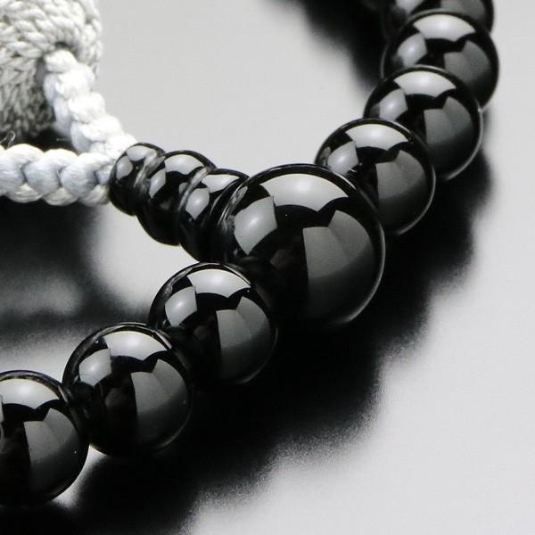 数珠 女性用 オニキス 淡水パール 約7ミリ 正絹2色房 数珠袋付き|nenjyu|03