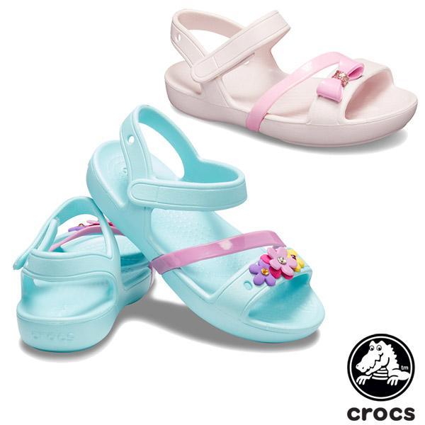 クロックス CROCS クロックス リナ チャーム サンダル キッズ crocs lina charm sandal kids  サンダル[AA]