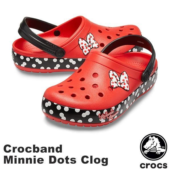 クロックス CROCS クロックバンド ミニー ドット クロッグ crocband Minnie dots clog  レディース ディズニー サンダル[BB]