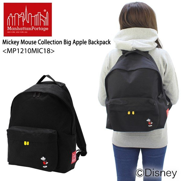 840f13f292a7 マンハッタン ポーテージ Manhattan Portage Mickey Mouse Collection Big Apple Backpack  MP1210MIC18 バックパック M リュックサック ...