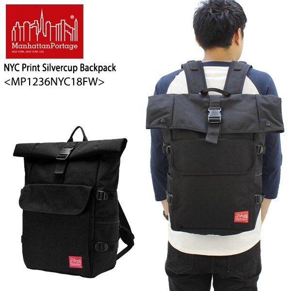 28f3b00bc667 マンハッタン ポーテージ Manhattan Portage NYC Print Silvercup Backpack MP1236NYC18FW  バックパック バッグ リュック M [DD ...