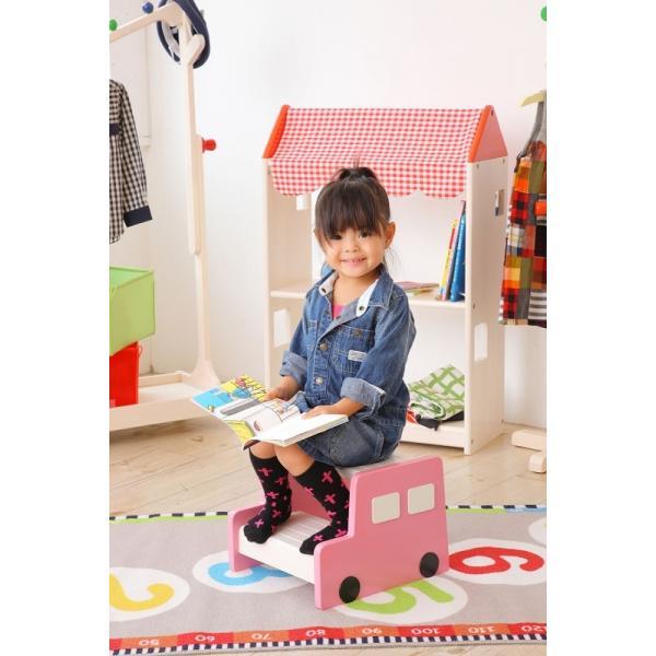 ステップ 踏み台 子供用 キッズ 子ども 車 木製 コンパクト かわいい プレゼント ギフト