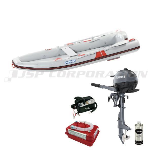 カヤック325 KYK-325 2021 わくわくスーパーセレクション SSセット ヤマハ2馬力船外機 予備検査なし エンジン架台なし 2人乗り ゴムボート ジョイクラフト