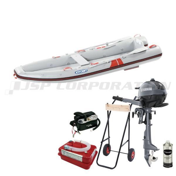 カヤック325 KYK-325 2021 わくわくスーパーセレクション SSセット ヤマハ2馬力船外機 予備検査なし エンジン架台付き 2人乗り ゴムボート ジョイクラフト
