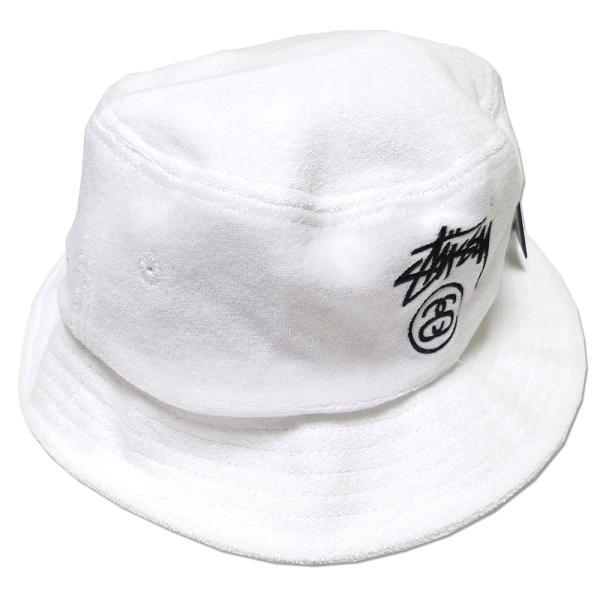 eda1017ad00f96 Stussy Terry Stock Lock SU15 Bucket Hat (White)/ステューシー ストック ロック バケットハット ...
