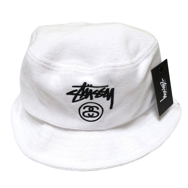 e2a94c8fb40a9c ... Stussy Terry Stock Lock SU15 Bucket Hat (White)/ステューシー ストック ロック バケットハット  ...