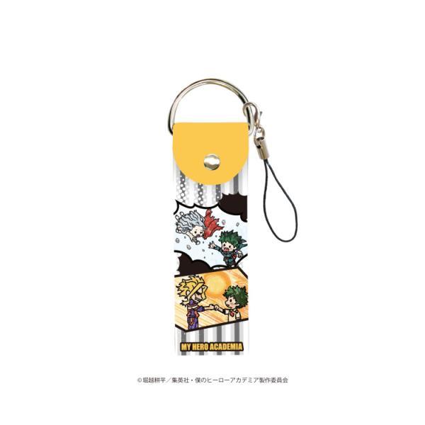 2021/02発売 [グッズ]/ビッグレザーストラップ 「僕のヒーローアカデミア」 01 / 吹き出しデザイン A (グラフアート)【タカラトミーアー