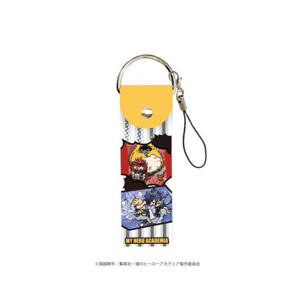 2021/02発売 [グッズ]/ビッグレザーストラップ 「僕のヒーローアカデミア」 02 / 吹き出しデザイン B (グラフアート)【タカラトミーアー