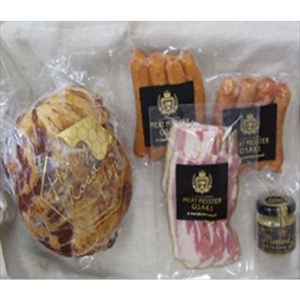 ウィンナー 肉加工品 ギフト セット 詰め合わせ 贈り物 贈答 産直 宮城 Meat Meister OSAKI ハニーローストハム&ウィンナーセット 内祝い 御祝 お祝い お礼