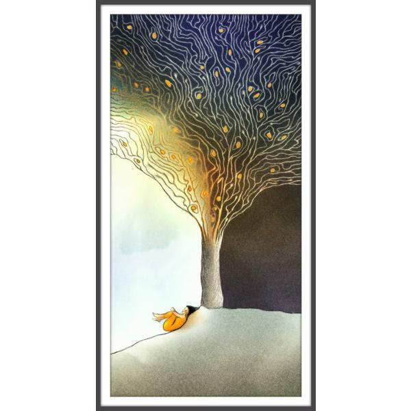 絵画「あんずの木に朝が来る」 ジクレー版画 ヨーロッパで大人気 ネルバ作 111-203|nerva