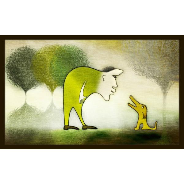 絵画「よしよし、いい子だ」 ジクレー版画 ヨーロッパで大人気 ネルバ作 111-204|nerva
