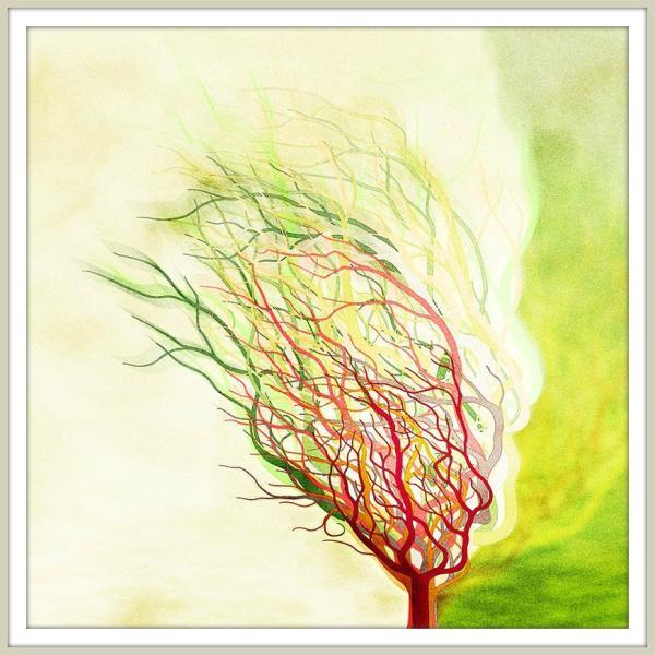 絵画「木は生きている」 ジクレー版画 ヨーロッパで大人気 ネルバ作 112-209|nerva