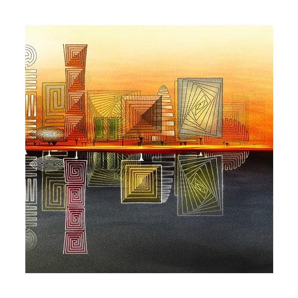 絵画「らせんの街」 ジクレー版画 ヨーロッパで大人気 ネルバ作 113-219|nerva|03