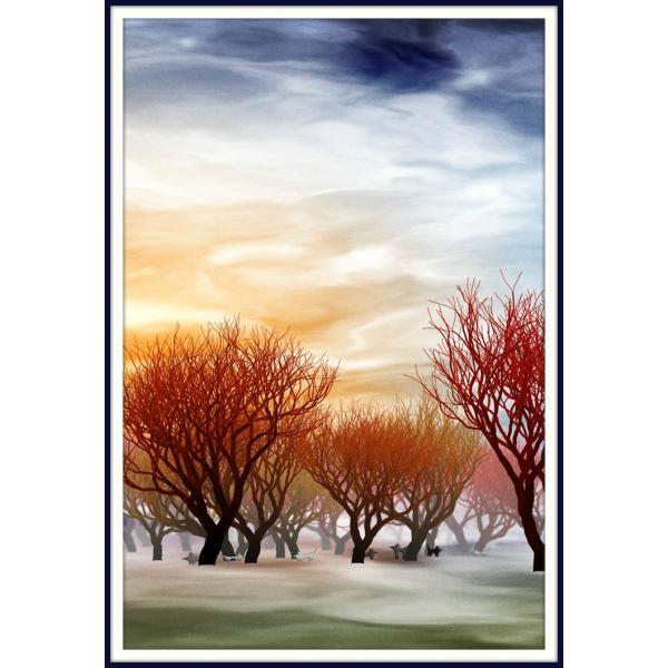 絵画「早朝キツネ会議」 ジクレー版画 ヨーロッパで大人気 ネルバ作 113-220|nerva
