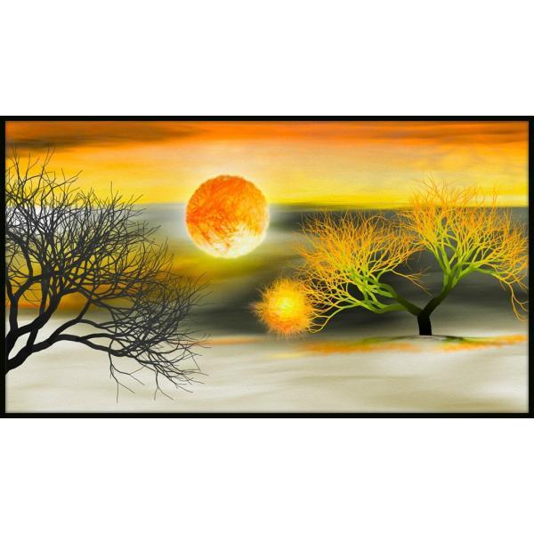 絵画「太陽のかけらが木にひっかかっちゃった」 ジクレー版画 ヨーロッパで大人気 ネルバ作 114-229|nerva