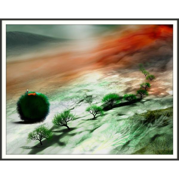 絵画「高いところにいると落ち着くんだ」 ジクレー版画 ヨーロッパで大人気 ネルバ作 114-230|nerva