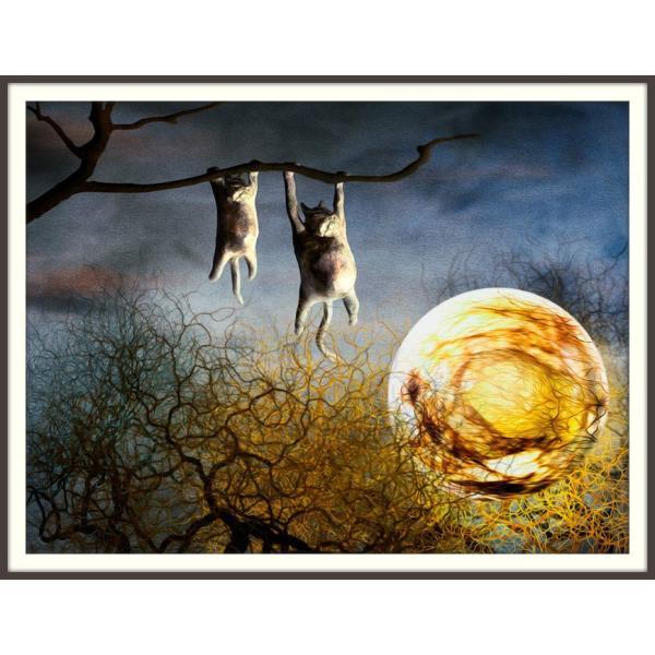 絵画「夜中のひなたぼっこ」 ジクレー版画 ヨーロッパで大人気 ネルバ作 114-245|nerva