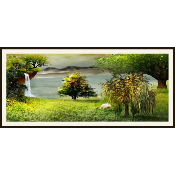 絵画 ネルバ作「パラダイスの北西の一角で暮らす」116-270 ジクレー版画 ネルバ作|nerva