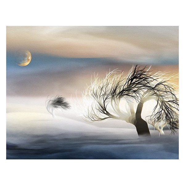 絵画 ネルバ作「雪どけ前のなごり雪」116-272 ジクレー版画 2016年製作 限定18枚|nerva|02