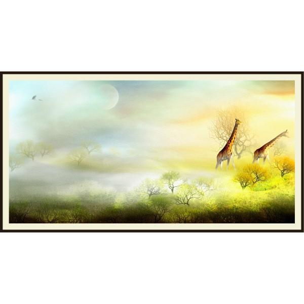 絵画 ネルバ作「霧のたちこめる朝」116-274 キャンバス・ジクレー版画|nerva