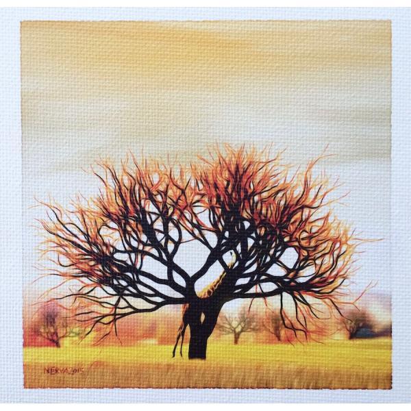 絵画 ネルバ作「ああ、そこにいたんだ。気がつかなかったよ」額付き 2015年製作 限定100枚  ジクレー版画 ヨーロッパで大人気 215-248|nerva|03