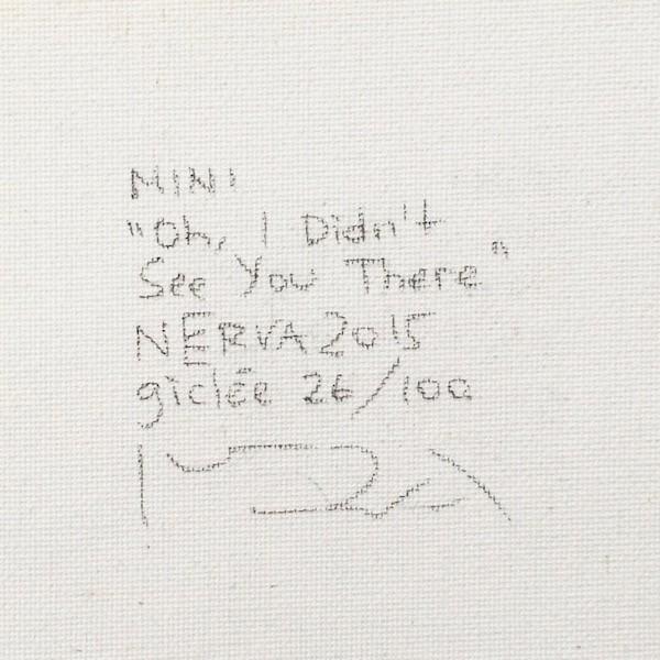 絵画 ネルバ作「ああ、そこにいたんだ。気がつかなかったよ」額付き 2015年製作 限定100枚  ジクレー版画 ヨーロッパで大人気 215-248|nerva|04