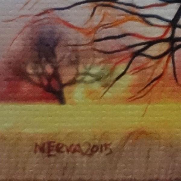 絵画 ネルバ作「ああ、そこにいたんだ。気がつかなかったよ」額付き 2015年製作 限定100枚  ジクレー版画 ヨーロッパで大人気 215-248|nerva|05