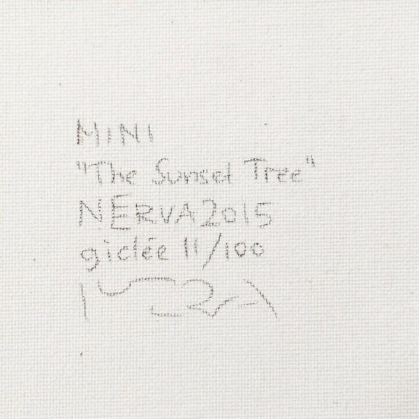 北欧ネルバ作「夕映えの木」額付き 2015年製作 限定100枚  ジクレー版画 ヨーロッパで大人気 215-252|nerva|04