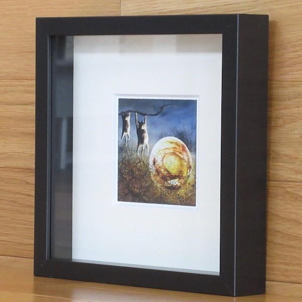 絵画 ネルバ作「夜中のひなたぼっこ」額付き 2015年製作 限定100枚  ジクレー版画 ヨーロッパで大人気 215-255|nerva|02