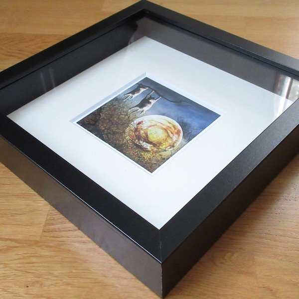 絵画 ネルバ作「夜中のひなたぼっこ」額付き 2015年製作 限定100枚  ジクレー版画 ヨーロッパで大人気 215-255|nerva|03