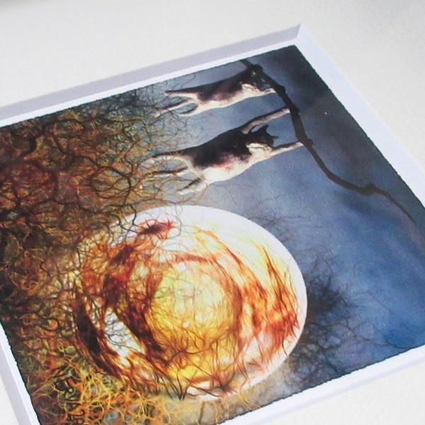絵画 ネルバ作「夜中のひなたぼっこ」額付き 2015年製作 限定100枚  ジクレー版画 ヨーロッパで大人気 215-255|nerva|04