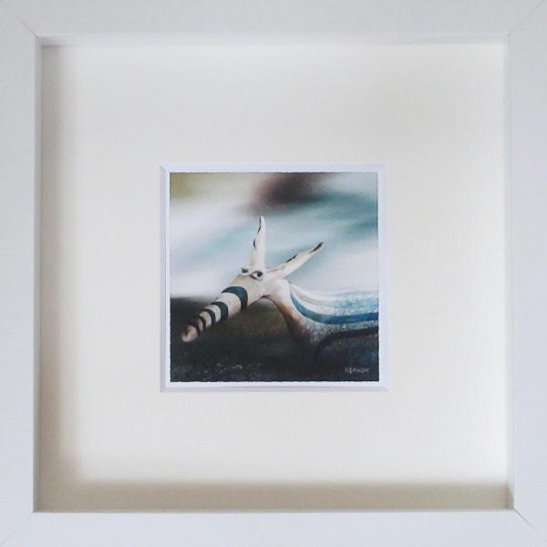絵画 ネルバ作「そう、ぼくちょっと変わってるんだ」額付き 2015年製作 限定100枚  ジクレー版画 ヨーロッパで大人気 215-256 nerva