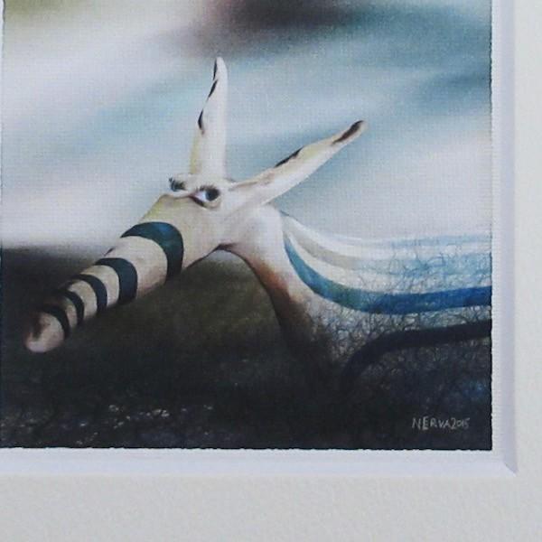 絵画 ネルバ作「そう、ぼくちょっと変わってるんだ」額付き 2015年製作 限定100枚  ジクレー版画 ヨーロッパで大人気 215-256 nerva 02