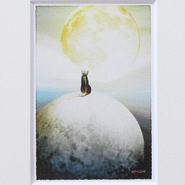 絵画 ネルバ作「夢はもっと大きく」額付き 2016年製作 限定64枚 ジクレー版画 送料無料 216-269|nerva|03