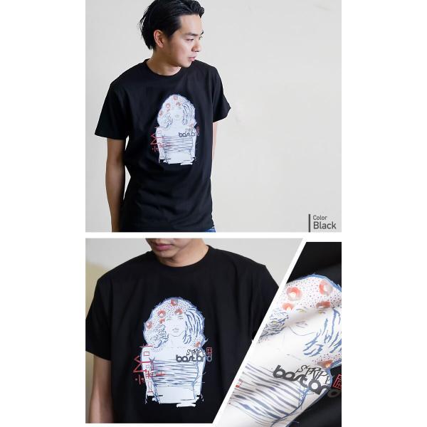 Stripe BASTARD 縞艶 アーティストコラボ和柄Tシャツ|nesnoo-shop|03