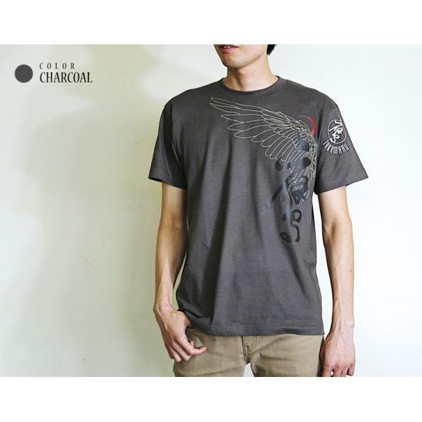 鷹丸 TAKAMARU-crescent 和柄Tシャツ/ 和柄Tシャツ メンズファッション 半袖 レディースファッション 売れ筋 おみやげ 和風|nesnoo-shop|02