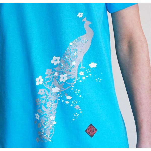 Tシャツ 和柄 孔雀櫻   ユニセックス 半袖 クルーネック 和風 メンズ レディース ユニセックス|nesnoo-shop|11