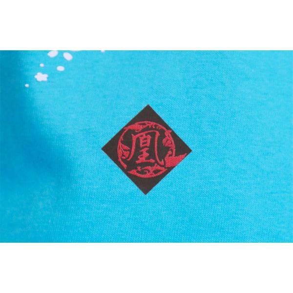 Tシャツ 和柄 孔雀櫻   ユニセックス 半袖 クルーネック 和風 メンズ レディース ユニセックス|nesnoo-shop|12