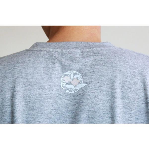 Tシャツ 和柄 孔雀櫻   ユニセックス 半袖 クルーネック 和風 メンズ レディース ユニセックス|nesnoo-shop|05