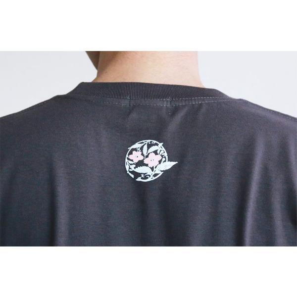 Tシャツ 和柄 孔雀櫻   ユニセックス 半袖 クルーネック 和風 メンズ レディース ユニセックス|nesnoo-shop|09