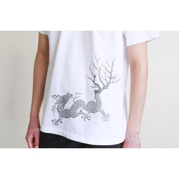 Tシャツ 和柄 梅遷龍   ユニセックス 半袖 クルーネック 和風 メンズ レディース|nesnoo-shop|06