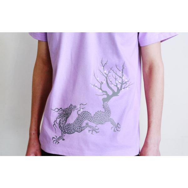 Tシャツ 和柄 梅遷龍   ユニセックス 半袖 クルーネック 和風 メンズ レディース|nesnoo-shop|09
