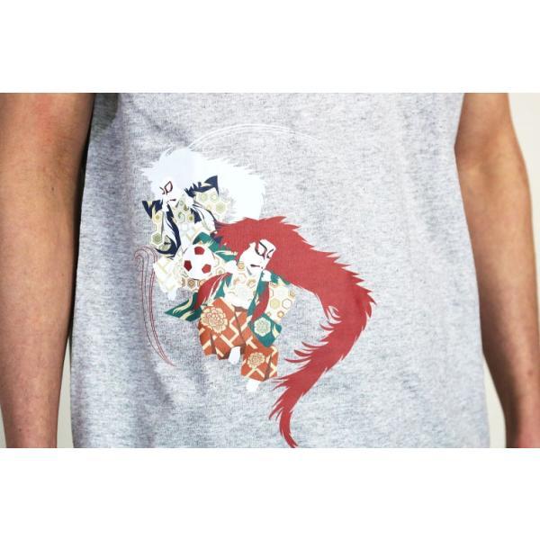 【Kabuki×nesnoo】Tシャツ 和柄 歌舞伎 かぶき 伝統芸能 江戸 連獅子ジャンプ(れんじしじゃんぷ) 歌舞伎 半袖 クルーネック 和風|nesnoo-shop|04