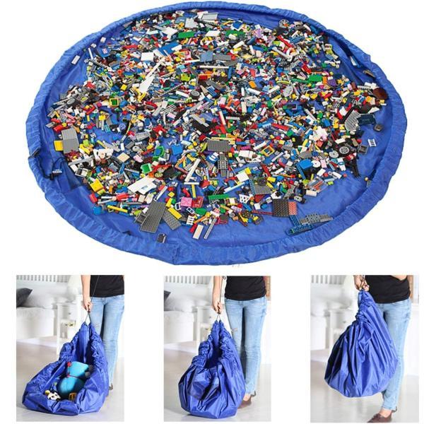 トミカ収納収納バッグ収納袋子どもプレイマットお片付け簡単特大マット大容量直径150cm玩具収納袋自宅/外遊び室外室内雑貨