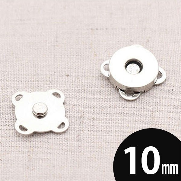 【ボタン】花マグネットボタン(シルバー10mm)1set【 商用利用可 】
