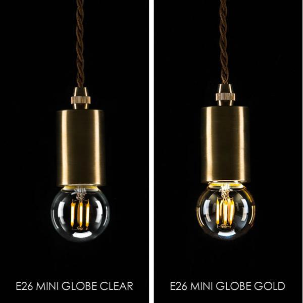 2個セット 調光器対応 E26ミニボール形 エジソン バルブ EDISON BULB LED 3W 100V 口金E26 LED 照明 エジソン電球 電球色 裸電球 レトロ nestbeauty 04